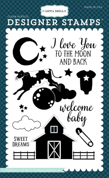 "To the Moon & Back 4""x6"" Stamp - Scrapbooking Fairies"