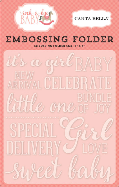 Sweet Baby Girl Embossing Folder - Scrapbooking Fairies