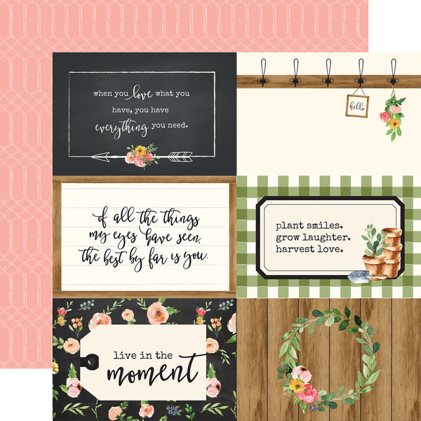 "Echo Park, Spring Market Double-Sided Cardstock 12""X12"", 4""X6"" Journaling Cards - Scrapbooking Fairies"