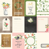 "Echo Park, Spring Market Double-Sided Cardstock 12""X12"", 3""X4"" Journaling Cards"