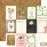"Echo Park, Spring Market Double-Sided Cardstock 12""X12"", 3""X4"" Journaling Cards - Scrapbooking Fairies"