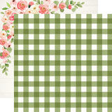"Echo Park, Spring Market Double-Sided Cardstock 12""X12"", Garden Gingham - Scrapbooking Fairies"