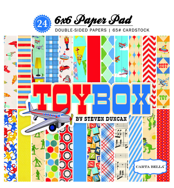 Echo Park Paper, Toy Box 6x6 Paper Pad - Scrapbooking Fairies