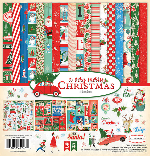 "Carta Bella Collection Kit 12""X12"", A Very Merry Christmas"