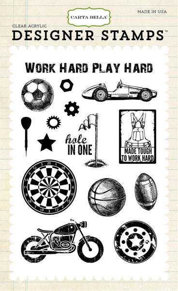 Echo Park, Play Hard,  4x6 Stamp - Scrapbooking Fairies