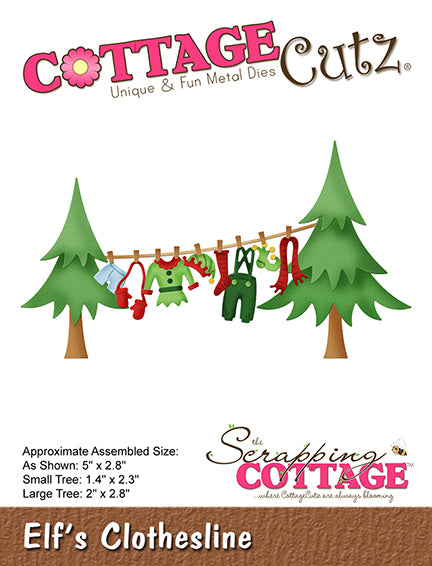 "CottageCutz Die, Elf's Clothesline 1.4"" To 5"""