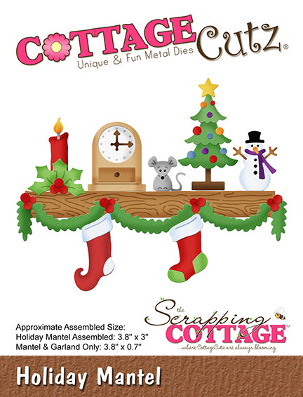 "CottageCutz Elites Die, Holiday Mantel .7"" To 3.8"""