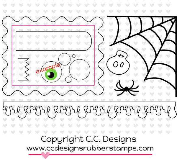 C.C. Designs Make A Card #8 Halloween Metal Die - Scrapbooking Fairies