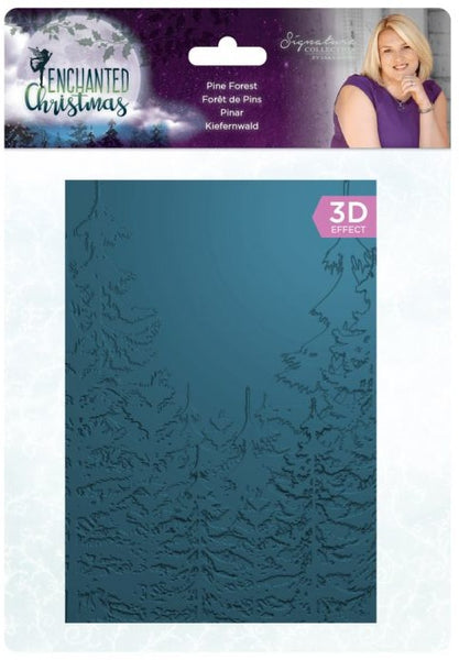 Crafter's Companion, 3D Embossing Folder, Enchanted Christmas - Pine Forest