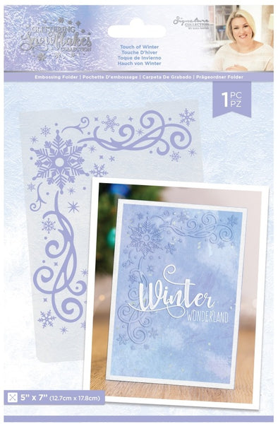 "Crafter's Companion, Glittering Snowflakes Embossing Folder 5""X7"", Touch Of Winter"