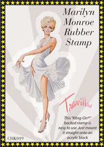 Marilyn Monroe, White Dress, Rubber Cling Stamp - Scrapbooking Fairies
