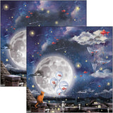 "Ciao Bella Double-Sided Paper Pack 90lb 12""X12"" 12/Pkg, Moon & Me, 12 Designs/1 Each"
