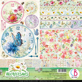 "Ciao Bella Double-Sided Paper Pack 90lb 12""X12"" 8/Pkg, Microcosmos, 8 Designs/1 Each"