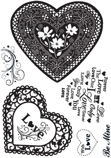 Crafty Impressions, Love Heart Clear Stamps, Clear Stamps - Scrapbooking Fairies