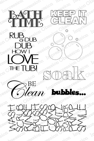 Impression Obsession, Bathtime, Clear Stamps - Scrapbooking Fairies