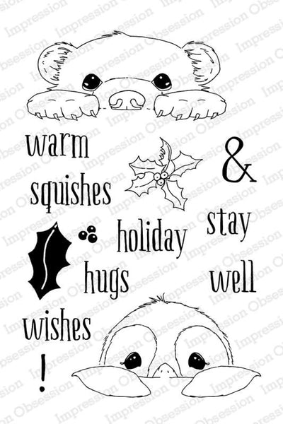 Impression Obsession, Warm Wishes, Clear Stamps
