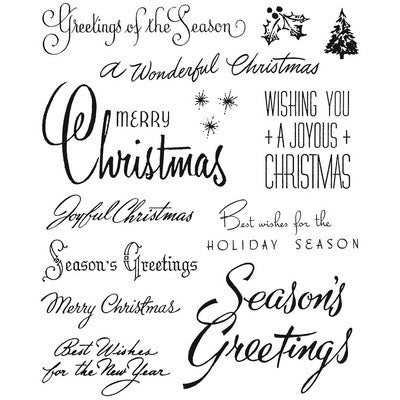 "Tim Holtz Cling Stamps 7""X8.5"", Christmastime #3"