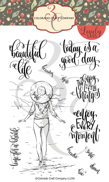 Colarado Craft, Lovely Legs - Enjoy Every Moment, Clear Stamps