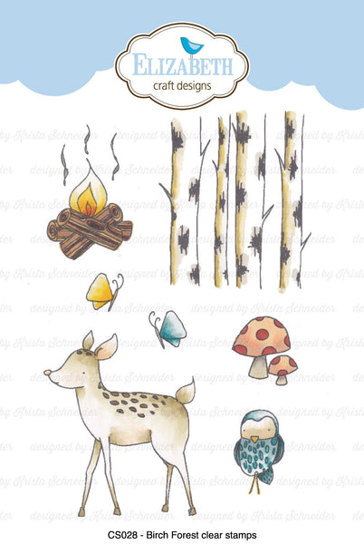 Elizabeth Craft Designs, Birch Forest, Clear Stamps