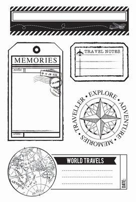 KAISERCRAFT: Now Boarding - Clear Stamp - Scrapbooking Fairies