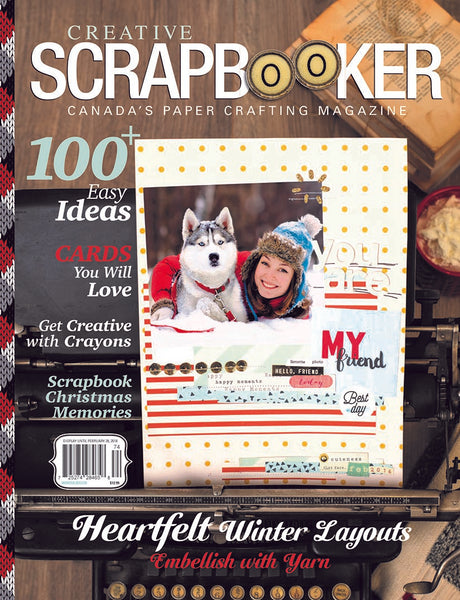 2017/2018 Creative Scrapbooker Canada's Paper Crafting Magazine, Winter - Scrapbooking Fairies