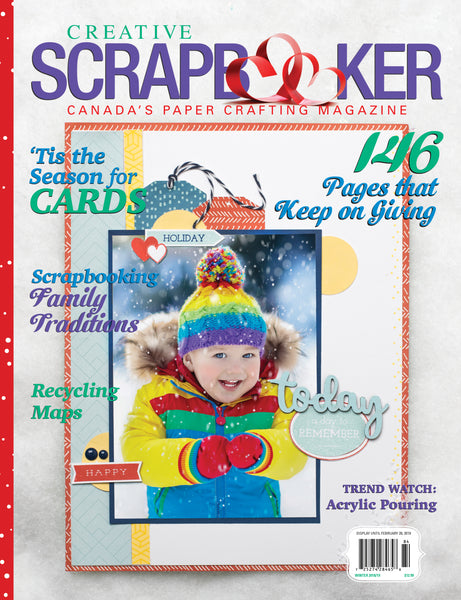 2018/2019 Creative Scrapbooker Magazine, Winter, Issue