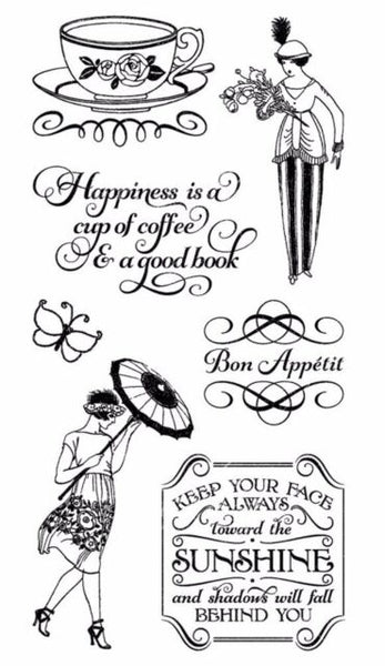 Graphic 45/Hampton Art, Cafe Parisiane 3, Cling Stamps