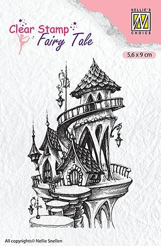 Nellie's Choice, Fairy Tale, Clear Stamp - Castle Summer