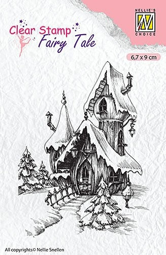 Nellie's Choice, Fairy Tale, Clear Stamp - Winter Castle