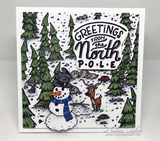 "Brutus Monroe Clear Stamps 4""X5.75"", Build A Snowman"