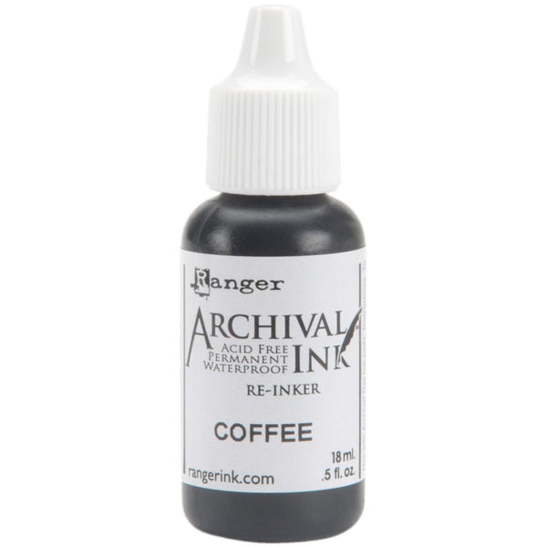 Ranger Archival Pad Reinker 0.5oz, Coffee
