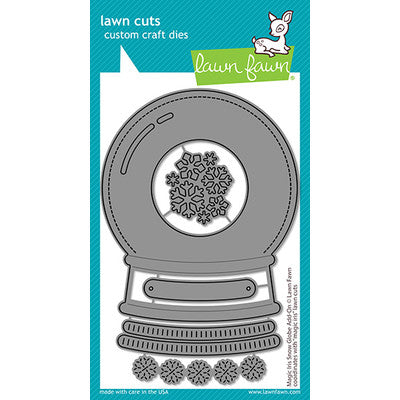 Lawn Fawn, Lawn Cuts Custom Craft Die, Magic Iris Snow Globe Add-On