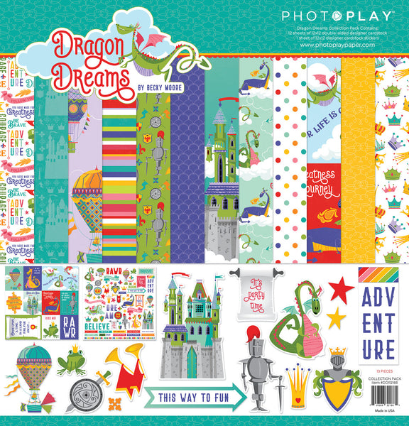 "PhotoPlay Collection Pack 12""X12"", Dragon Dreams"