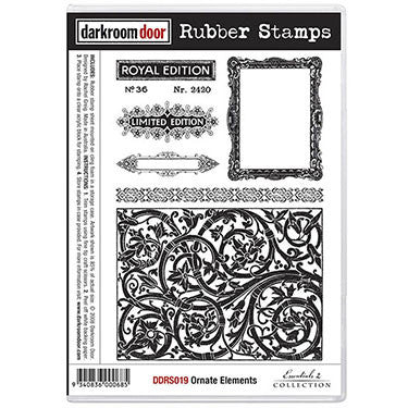 Darkroom Door - Rubber Stamp Set - Ornate Elements - Scrapbooking Fairies