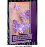 Darkroom Door - Rubber Stamp Set - Butterflies - Scrapbooking Fairies