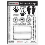 Darkroom Door - Rubber Stamp Set - Hello Baby Vol. 2 - Scrapbooking Fairies
