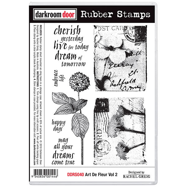 "Darkroom Door Cling Stamps 7""X5"", Art De Fleur Vol 2"