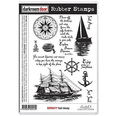 Darkroom Door - Rubber Stamp Set - Sail Away - Scrapbooking Fairies