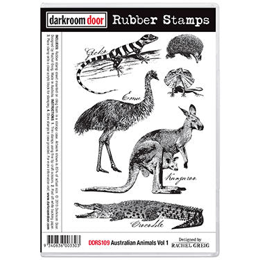 "Darkroom Door Cling Stamps 7""X5"", Australian Animals Vol 1"
