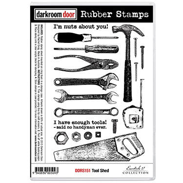 Darkroom Door - Rubber Stamp Set - Tool Shed - Scrapbooking Fairies