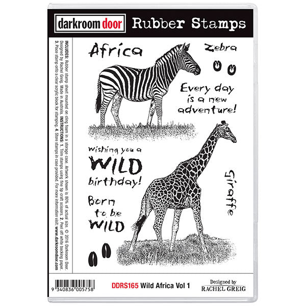 "Darkroom Door Cling Stamps 7""X5"", Wild Africa Vol 1"