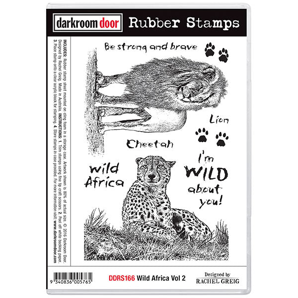 "Darkroom Door Cling Stamps 7""X5"", Wild Africa Vol 2"