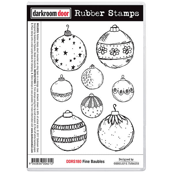 "Darkroom Door Cling Stamps 7""X5"", Fine Baubles"