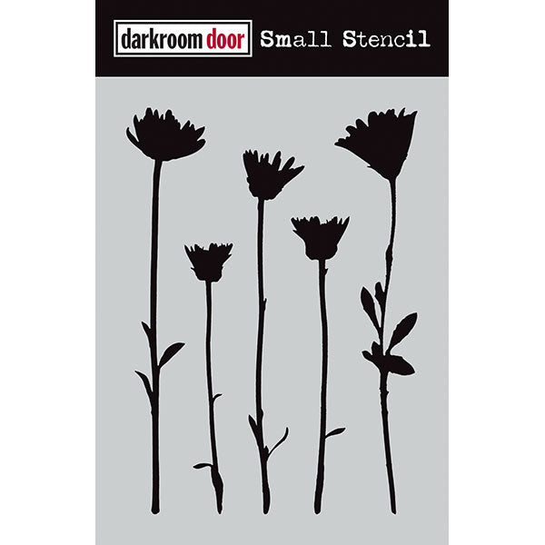 Darkroom Door Small Stencil - Wildflowers - Scrapbooking Fairies
