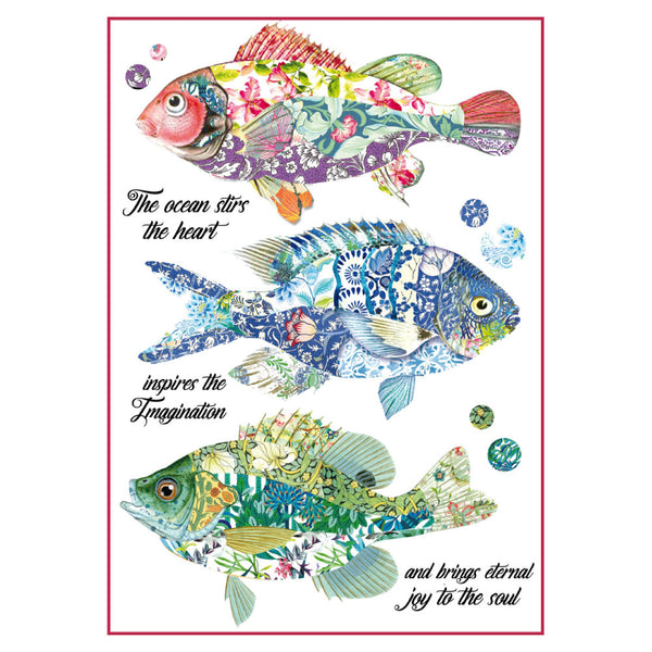 Stamperia, A4 Decoupage Rice Paper Packed Fantasy fishes - Scrapbooking Fairies