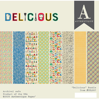 "Authentique Double-Sided Cardstock Pad 6""X6"" 20/Pkg, Delicious"