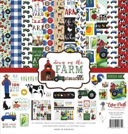 "Echo Park Paper Co., Collection Kit 12""X12"", Down on the Farm"