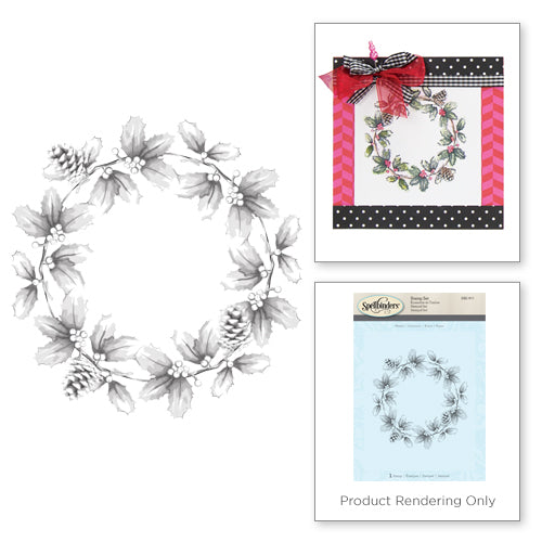 Spellbinders, 3D Shading Stamp, Wreath - Scrapbooking Fairies