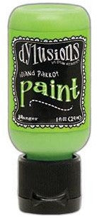 Dylusions Acrylic Paint, Flip Cap Bottle, 1oz, Island Parrot