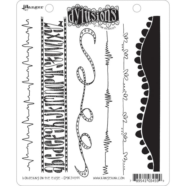 "Dyan Reaveley's Dylusions Cling Stamp Collections 8.5""X7"", Bordering on the Edge"